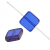 Fire polished 8X8mm Square Sapphire Lamp/window Beads